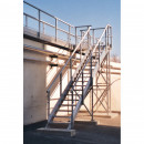 Escaliers Aluminium inclinaison 45°
